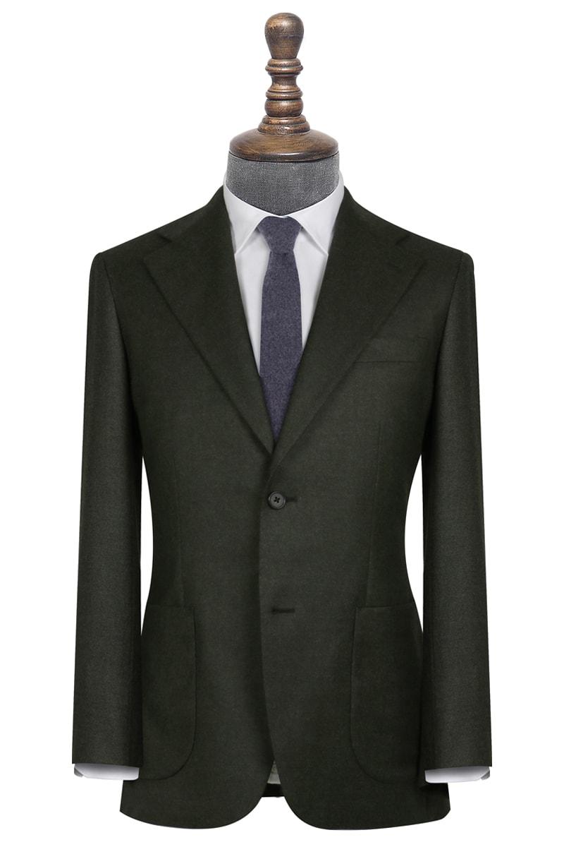 Murray Dark Moss Green Flannel