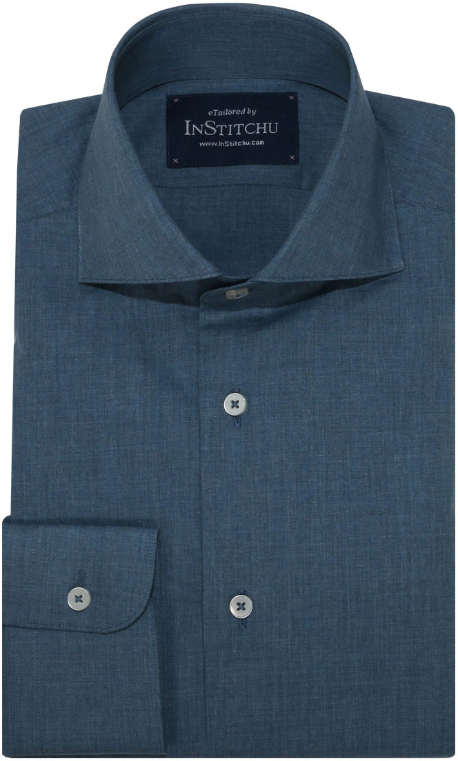 InStitchu Collection Autumn Cadet Blue Cotton