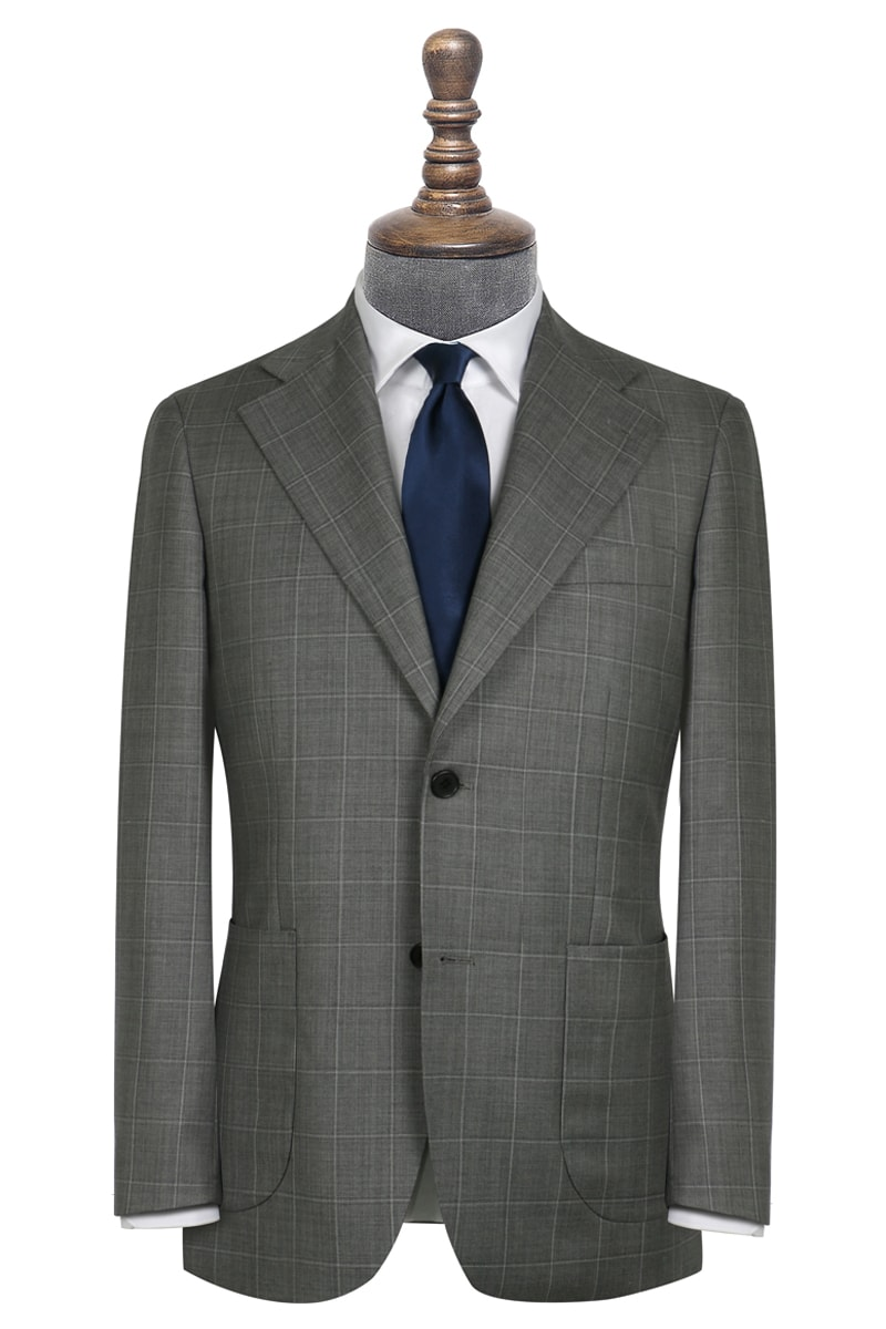 Clarke Grey Windowpane