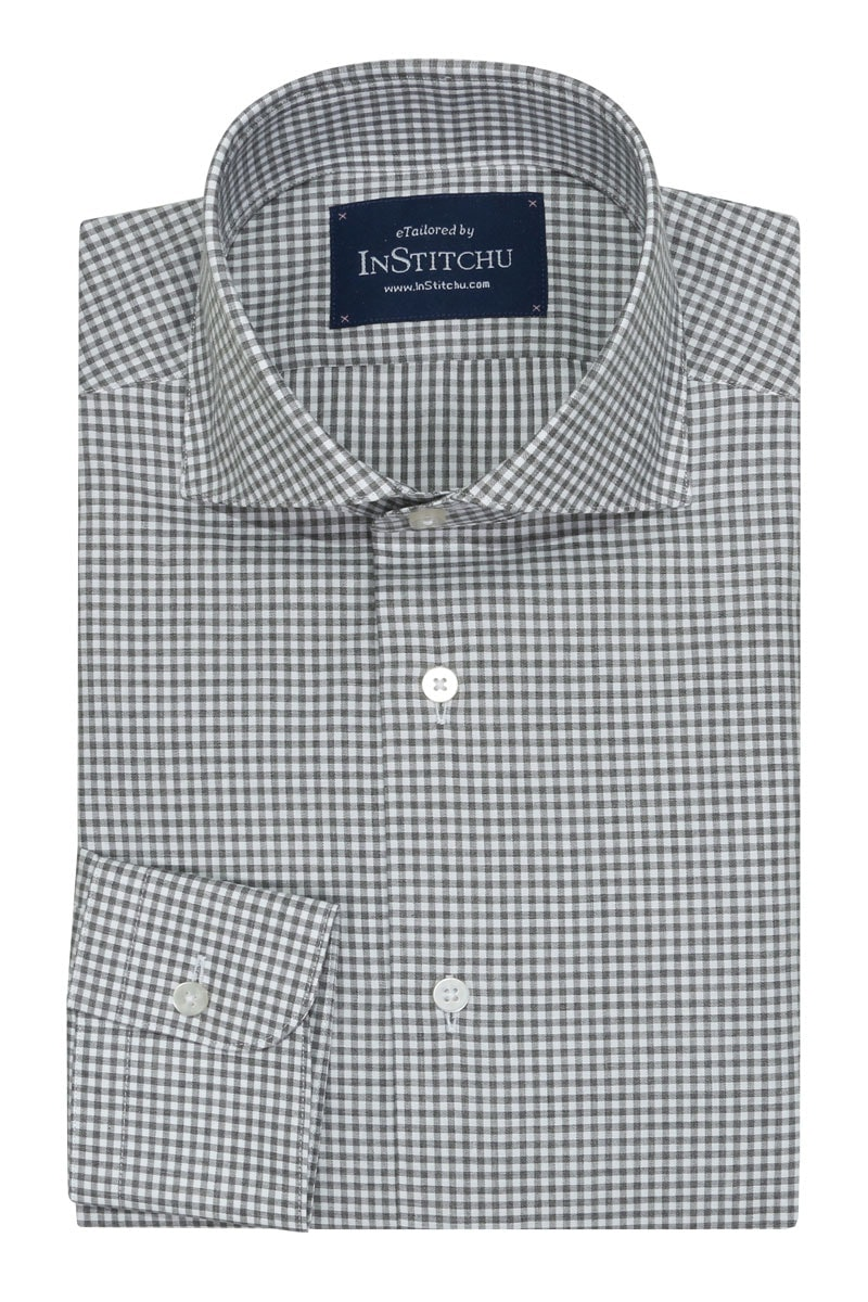 InStitchu Collection Autumn Checkered Grey
