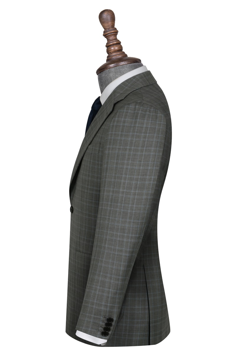 Dalley Grey and Light Blue Check