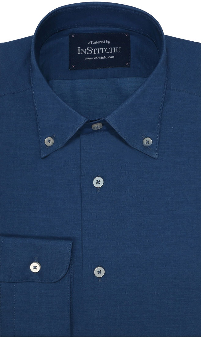 InStitchu Collection Marine Blue Cotton Autumn Print