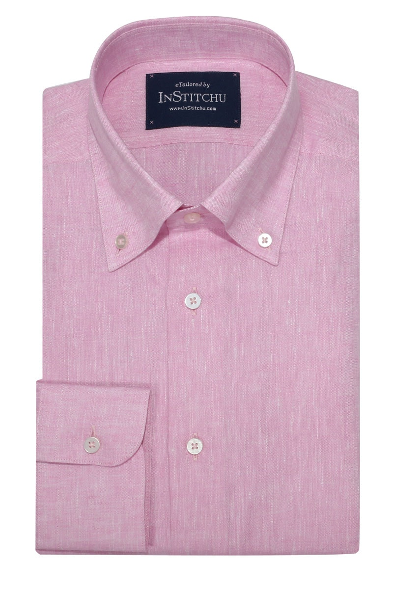 InStitchu Collection Pure Pastel Pink Linen