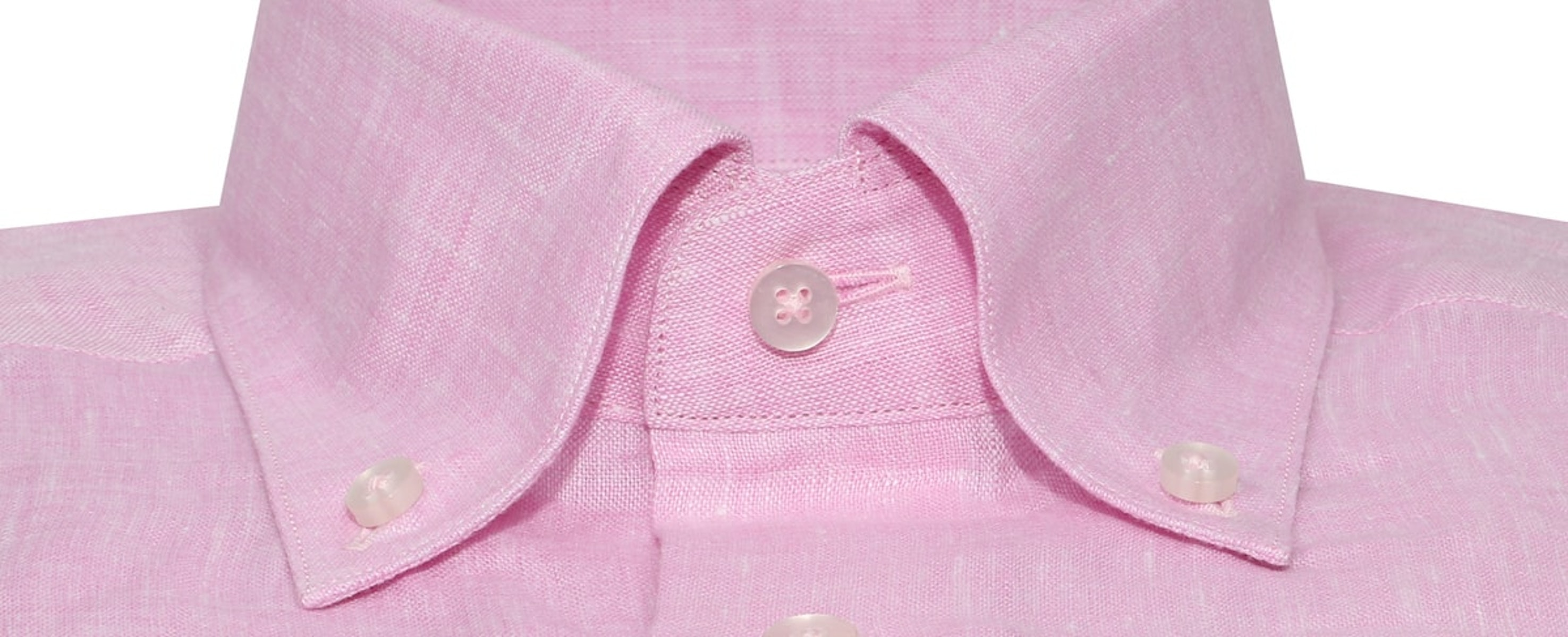 InStitchu Collection Pink Linen Button Down Shirt