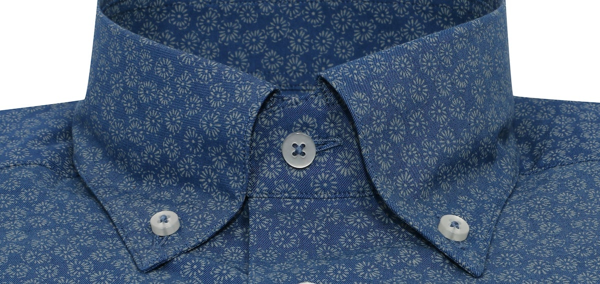 InStitchu Collection Floral Blue Autumn Print