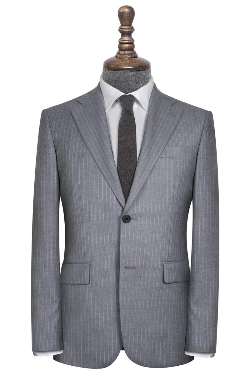 Harrington Vitale Barberis Grey and White Pinstripe