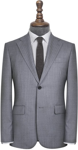 Harrington Vitale Barberis Grey and White Pinstripe