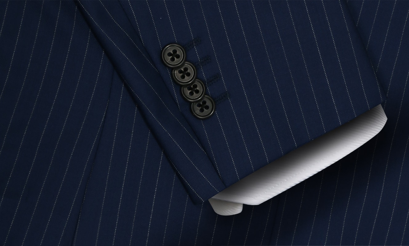 Underwood Vitale Barberis Navy and White Pinstripe