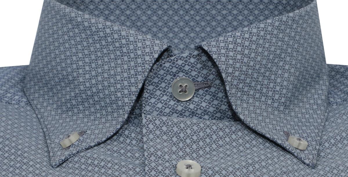 InStitchu Collection Grey Blue Grid Autumn Print