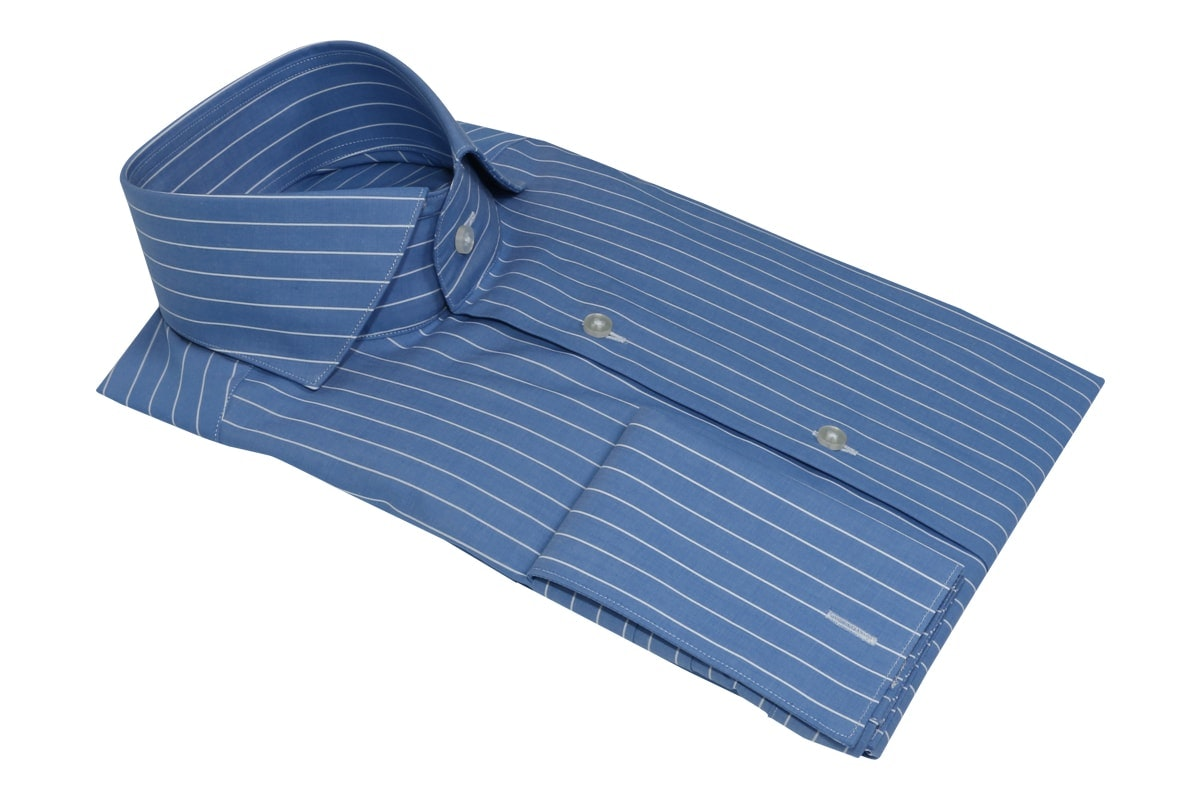 InStitchu Collection Powder Blue Single Smart Stripe