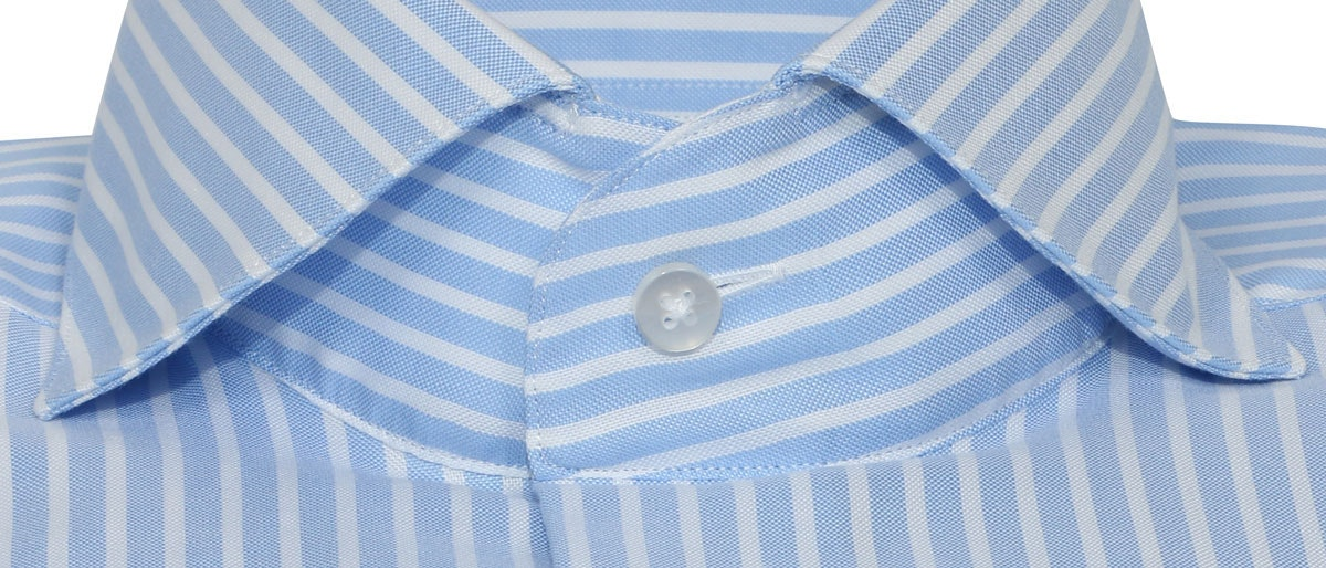 InStitchu Collection Sky Blue White Smart Striped