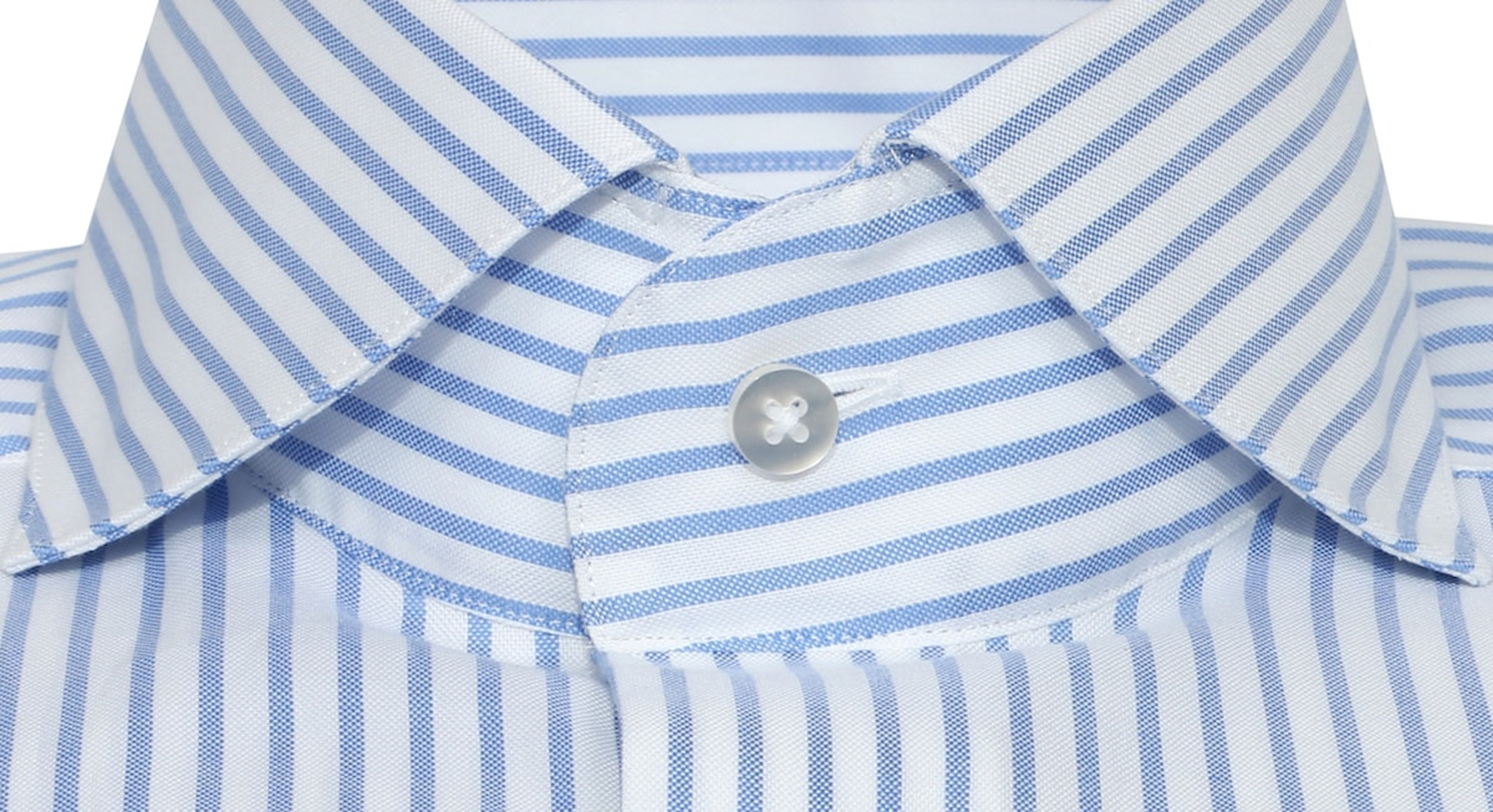 InStitchu Collection Glaucous Blue White Smart Striped