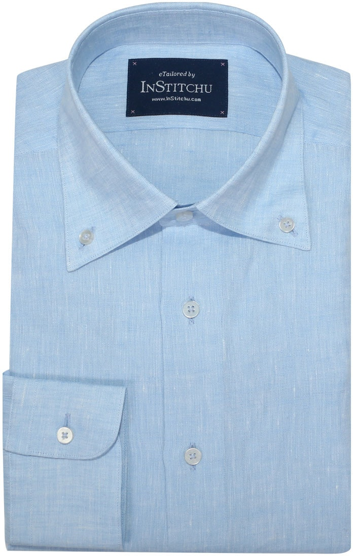 InStitchu Collection Pure Sky Blue Linen
