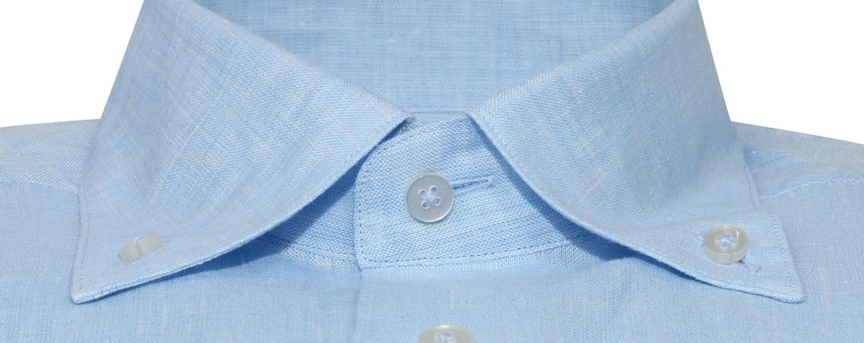 InStitchu Collection Sky Blue Linen Button Down Shirt