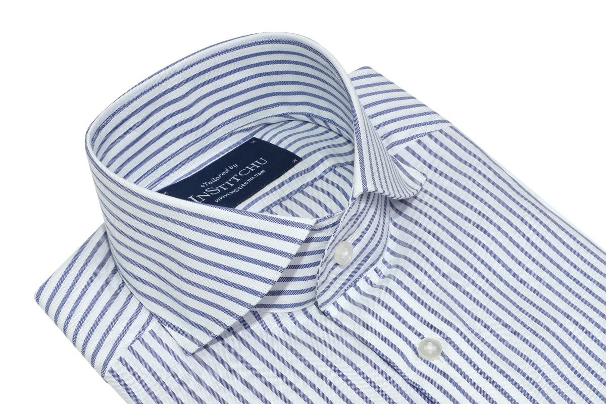 InStitchu Collection Pale Indigo Smart Striped