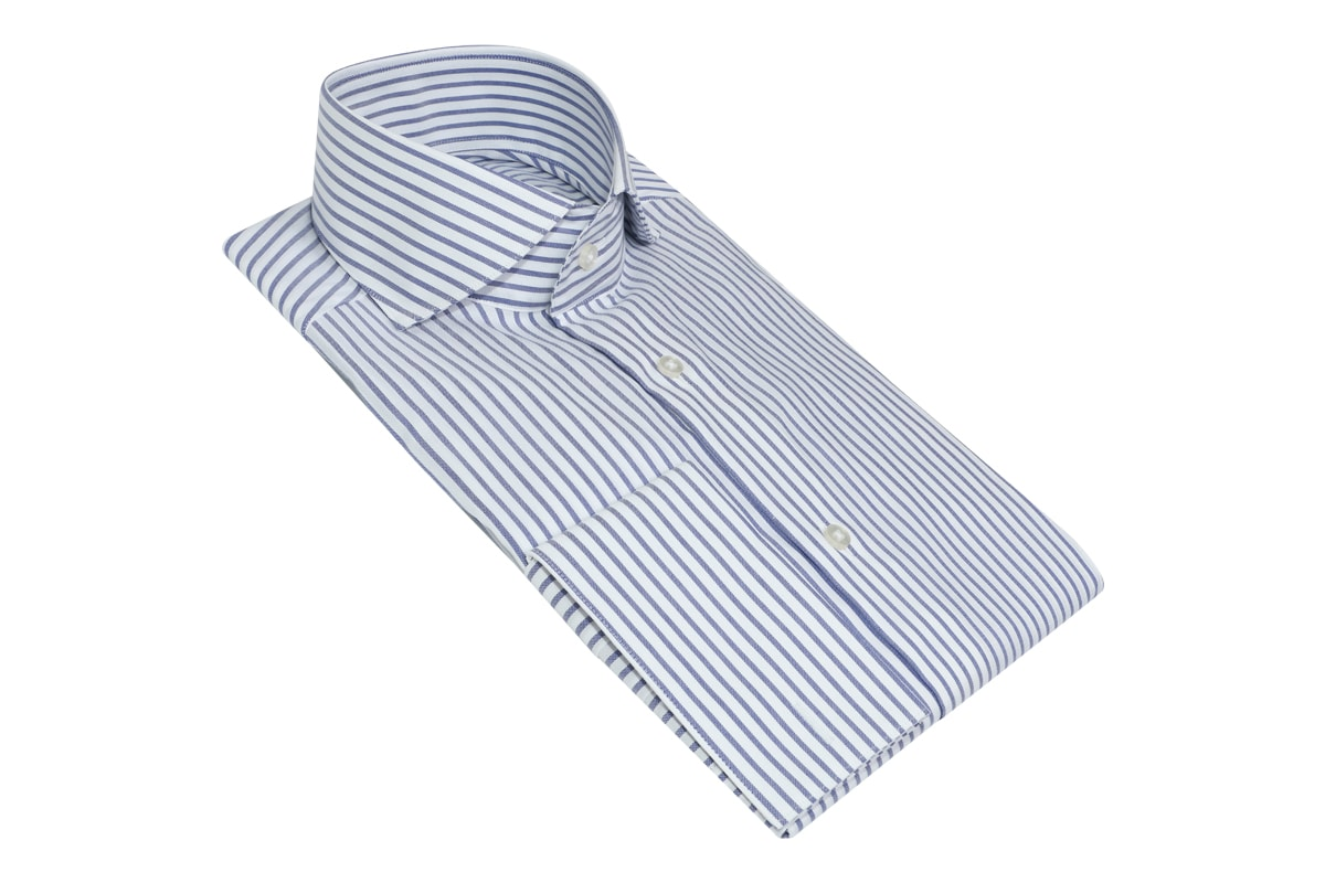 InStitchu Collection Pale Indigo Smart Striped