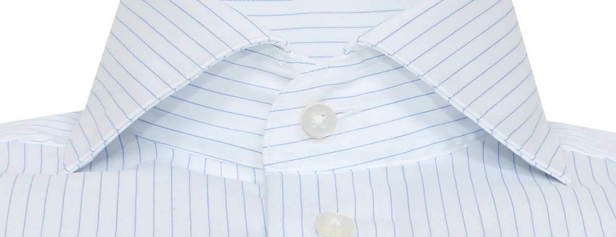 InStitchu Collection Wrinkle Free Blue Striped