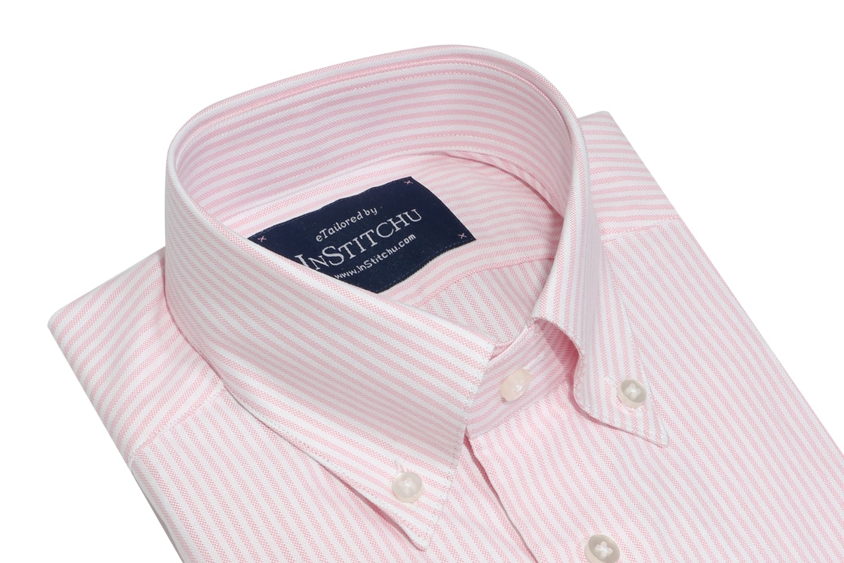 InStitchu Collection Oxford Pink Cotton Striped