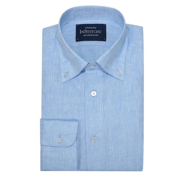 InStitchu Collection Pure Sea Blue Linen