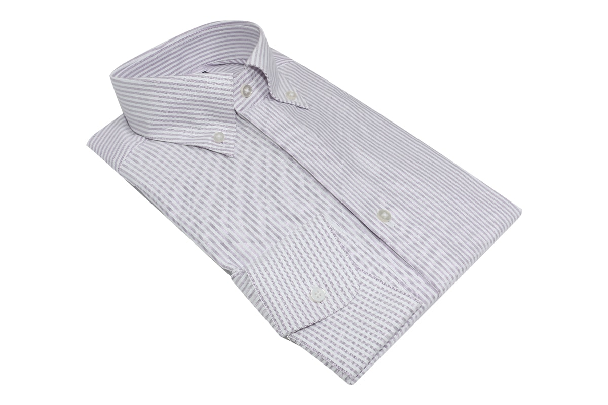 InStitchu Collection Oxford Purple Cotton Striped