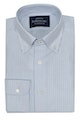InStitchu Collection Oxford Light Blue Cotton Striped