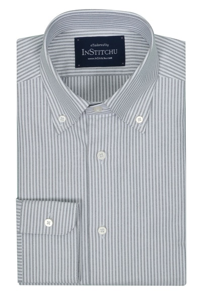 InStitchu Collection Oxford Black Cotton Striped