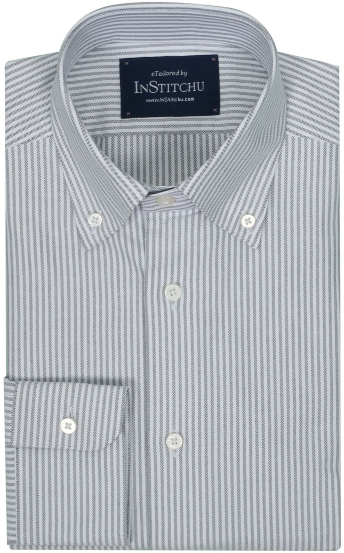 InStitchu Collection Oxford Black Cotton Striped