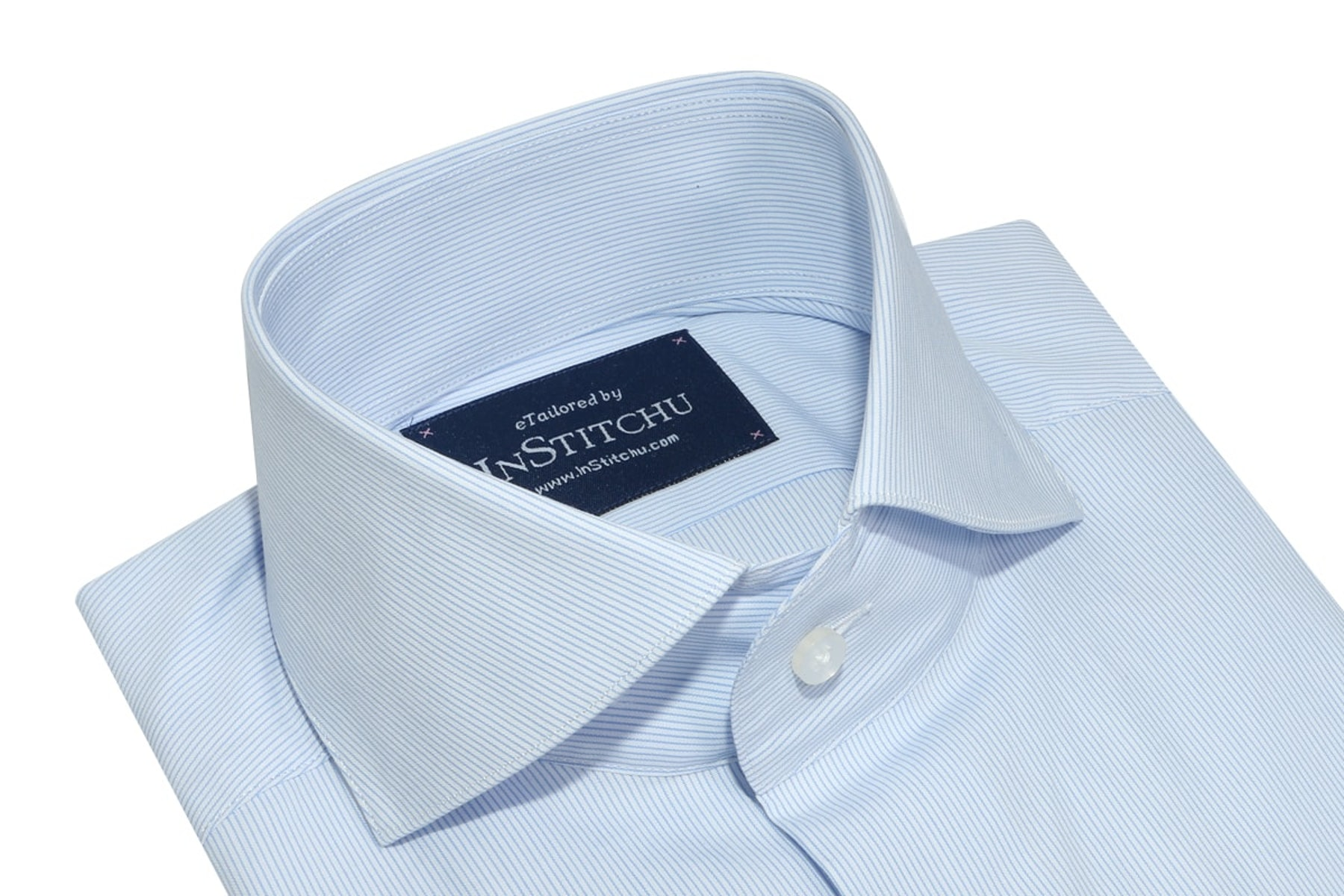 InStitchu Collection Seasonal Striped Light Blue