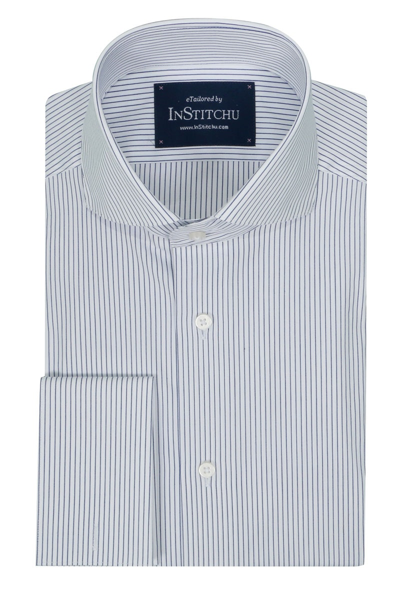 InStitchu Collection Seasonal Striped Classic Blue