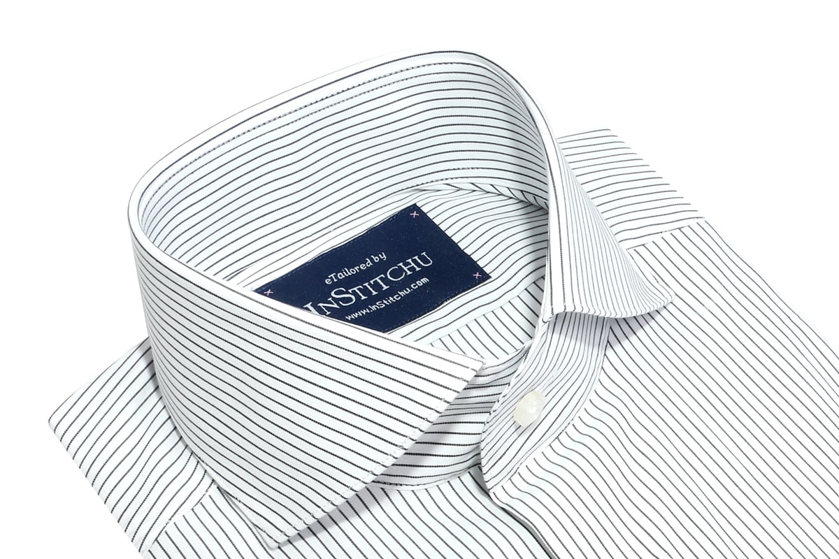 InStitchu Collection Seasonal Thin Striped Navy Blue
