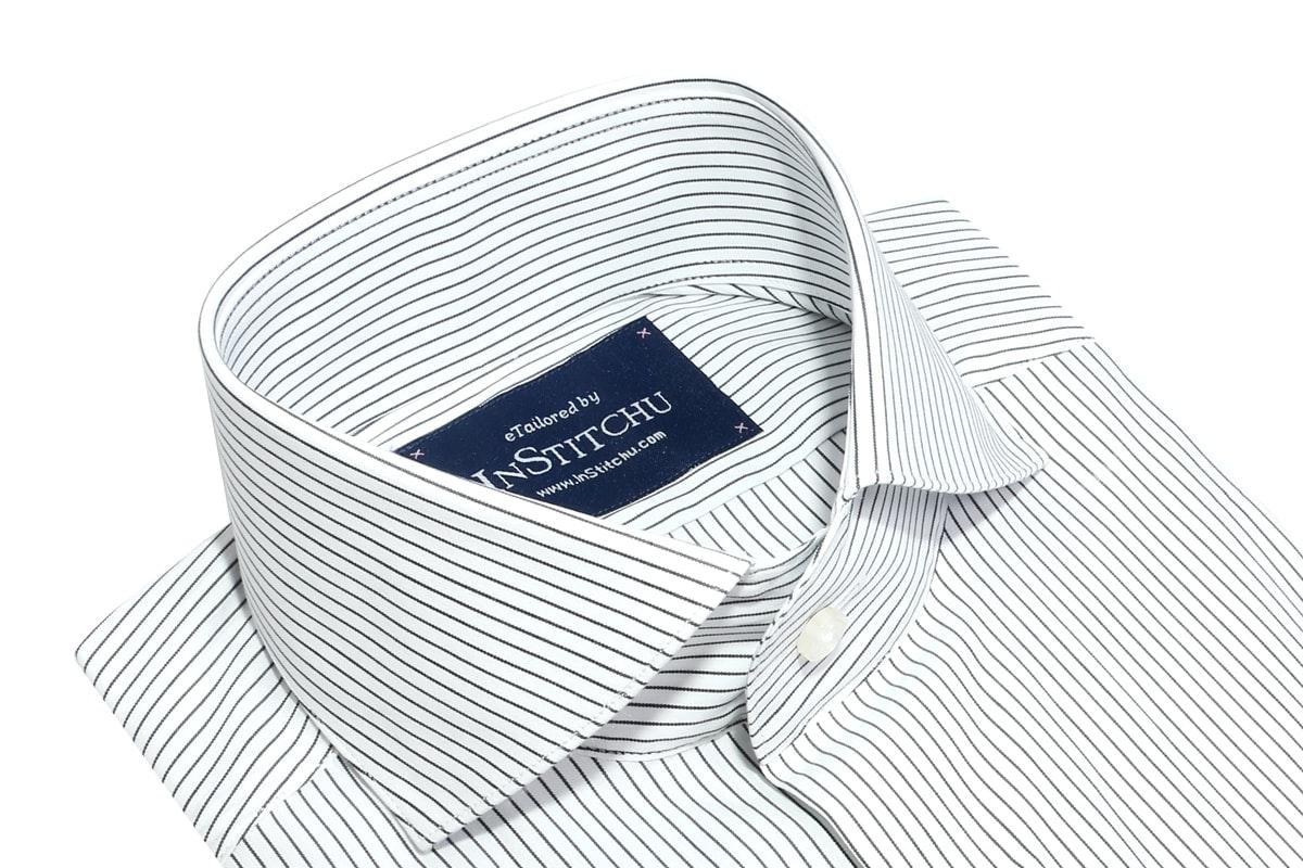 InStitchu Collection Seasonal Thin Striped Navy Blue