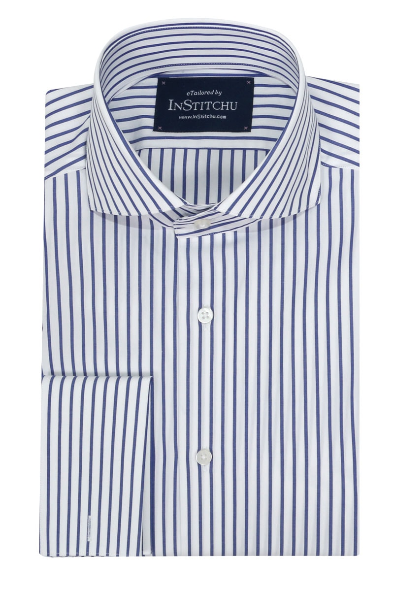 InStitchu Collection Seasonal Thin Striped Medium Blue