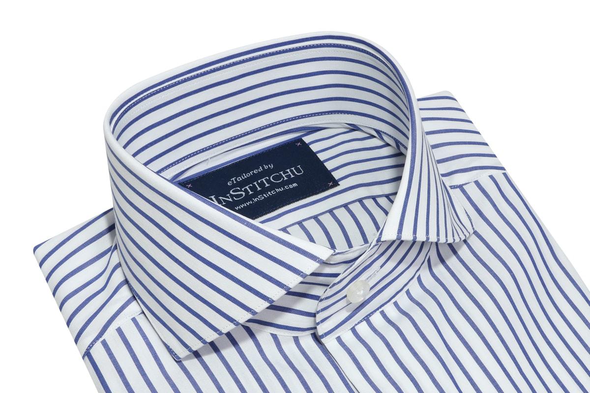 InStitchu Collection Seasonal Thin Striped Medium Blue