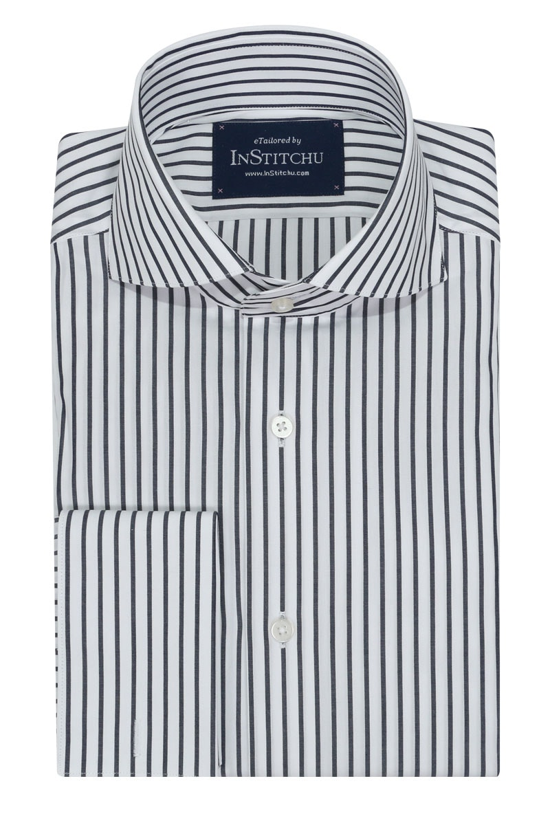 InStitchu Collection Seasonal Striped Blue Navy