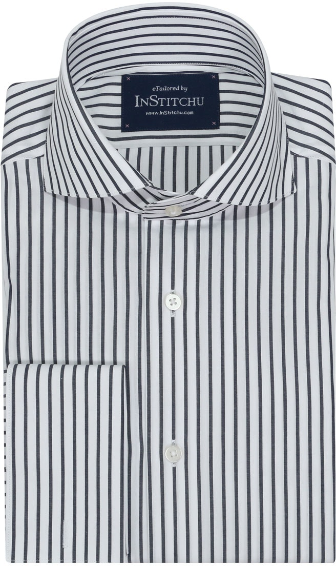 InStitchu Collection Seasonal Striped Blue Navy