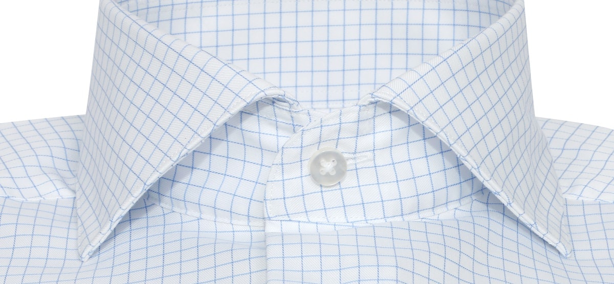 InStitchu Collection Wrinkle Free Check Blue
