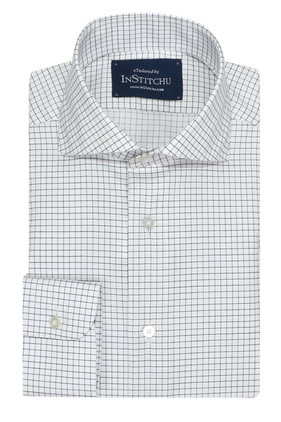 InStitchu Collection Wrinkle Free Check Black